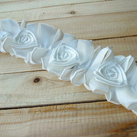 lace lace chiffon  white White Satin Rose Lace Trim Stretch Lace Superior Quality Handmade Accessory about 4.5cm 2yard lot