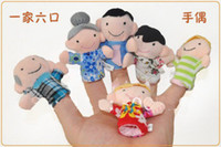 Wholesale Retail My family Finger Puppets toys Puppets Hand Puppet toy Finger puppet toy