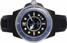 Wholesale luxury Watch Marine Men s mm Black Ceramic Watch w Steel Bezel H2561 Mens Watch Men s Watches