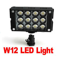 Wholesale Nice W12 LED VIDEO Light Lamp for CANON NIKON JVC PANASONIC Camera Camcorder