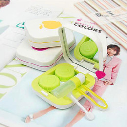 Wholesale Apple Contact Lenses Box Cute Cartoon Eyewear Cases amp Bags Glasses