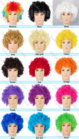 Wholesale 10 New arrivals Afro Curly Clown Party Disco hair Wig Wigs Colours in choice