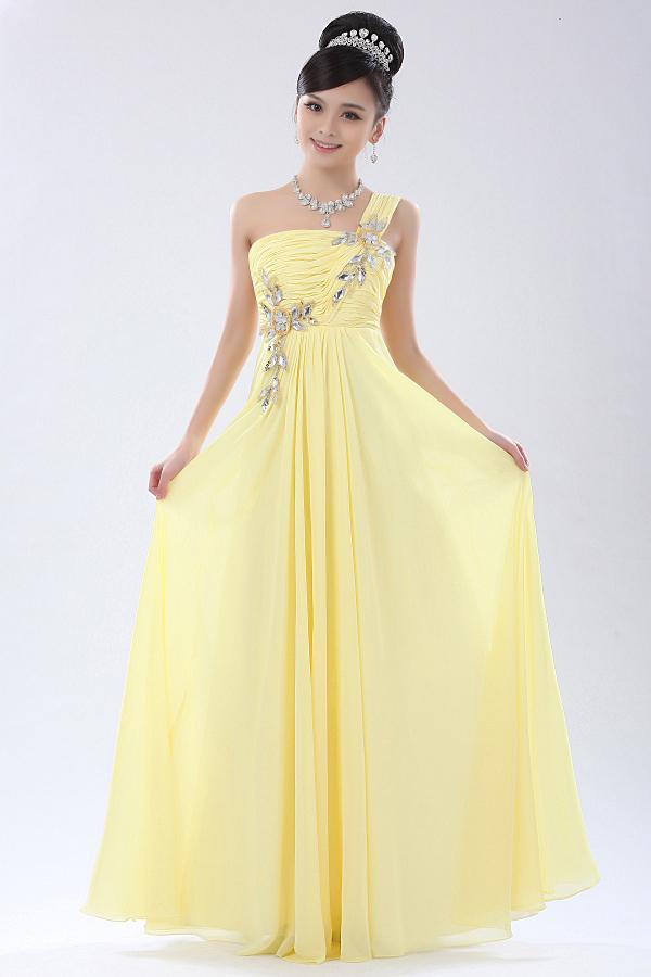 Short Prom Dresses: Yellow Prom Dresses Cheap