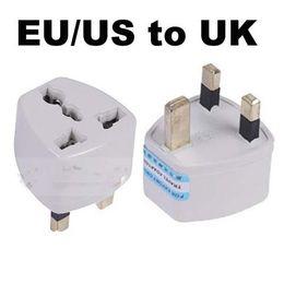 1PC EU US to UK travel plug Universal Travel Power Adapter Plug AC for UK Standard