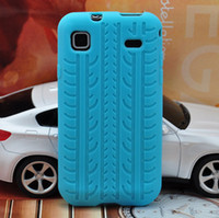 Wholesale soft tread tyre tire track Silicone Rubber TPU back Case Cover pouch for Samsung Galaxy S i9000
