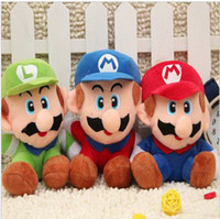 Wholesale Stuffed toy CM Super Mario cartoon plush Mario doll toys factory outlet Christmas toy dolls