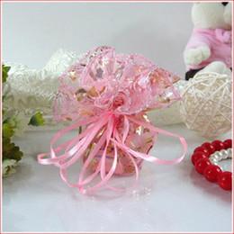Wholesale Gilt rose circular yarn bag gift bags jewelry bag candy hi egg bags goodie bags Diameter m