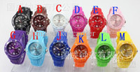 Wholesale Luxury Unisex Candy Jelly Sport Watch Colors Logo High Quality mm Fashion Silicone Quartz Ladies Women s Mens Men s Watches