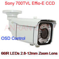 Wholesale 700TVL Sony Effio E CCD IR Waterproof CCTV Camera With OSD mm Lens