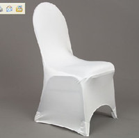 Wholesale white spandex lycra chair cover for weddings