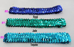 free shipping mix 20 different color 100pcs 1'' sequin headbands baby headbands for girl stretch sequin headband 2