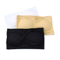 Wholesale fashion soft Shear Seamless Bandeau BraTubeTop Bra with Removable Pads leisure bra sport bra