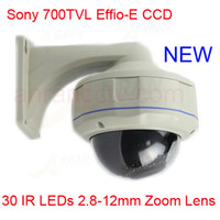 Wholesale 700TVL EFFIO E quot SONY Exview CCD mm Lens Dome Surveillance CCTV Camera With OSD