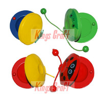 Wholesale Early Childhood Education learning music percussion instrument KSU castanet polyphony block
