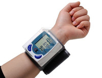 Wholesale Automatic Digital Wrist Blood Pressure Monitor amp Heart Beat Meter HB958