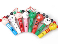 Wholesale Childhood music instrument With Sound toys cartoon Whistle for baby toy bridcall