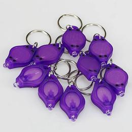 gratuits 10pcs expédition / lot mini-LED - porte-clés uv lumière noire, taille mini, largement utilisés pour lire le secret