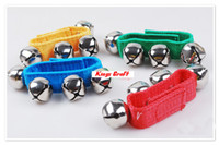 Wholesale kids music instrument child toys wrist bells percussion instrument baby toy ratchet