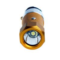 Wholesale Mini Car Cigarette Lighter LED Flashlight Torch Rechargeable Colors Optional