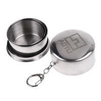 Wholesale 20 Stainless Steel Folding Travel Cup Keychain Telescopic Retractable Portable