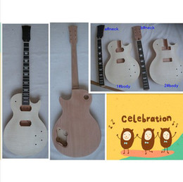 Wholesale best Newest china Unfinished electric guitar body1 neck a the wood very very good