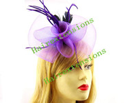 Wholesale Hair Fascinators feather clip fascinator retail bridal hair accessories Hande made mix color