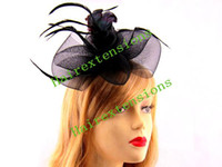 Wholesale Hair Fascinators feather clip fascinator retail Wedding hair accessories Hande made mix color