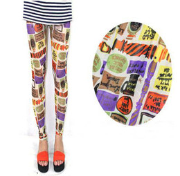 Wholesale 520 Fashion Women s Leggings Sexy colorful printing thin mesh stretch tight Leggings