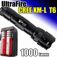 Wholesale whole set UltraFire WF b CREE XM L T6 LED Lm Flashlight x mAh Battery Charger