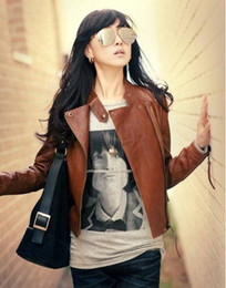 Wholesale New Arrival Ladies Faux Jacket Fashion Jacket Slim Short Leather Jacket B