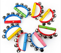 Wholesale kids music toys instruments for baby tambourine bells