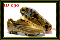 Wholesale Brand Men s Soccer Shoes Football Sports Boots Outdoor Cleats TPU PVC EVA FG HG Gold Cleat Shoe Athletic TB