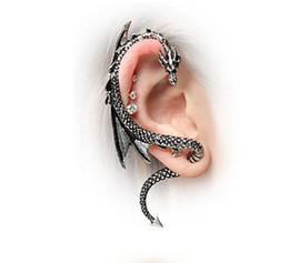 Wholesale Dragons Ear Cuff Stud Earrings Vintage Bronze Silver Wind Temptation Antique Punk