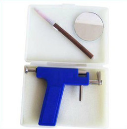 Wholesale 2012 hot sell piercing kit fashion Steel Ear amp Tattoo Body Piercing Gun pairs of silver studs