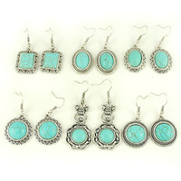 Wholesale Mixed Turquoise Earrings Mixed Designs Earring Jewelry E1217