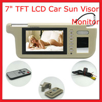Wholesale A Pair ich Car Sun Visor Color LCD Monitor for DVD VCD GPS camera Have Gray Beige and Black