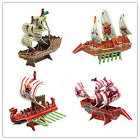 Wholesale Pirate Ship DIY D three dimensional puzzle D paper models