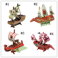 Wholesale Pirate Ship D Toy Puzzle Game Puzzle Model Innovative Toy educational toy