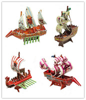 Wholesale Pirate Ship Toys D Puzzles Toys DIY paper puzzles Three dimensional puzzles