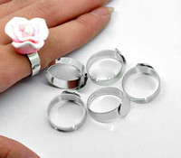 base jumping - DIY Stainless Steel Adjustable Ring Base Blank Glue on mm