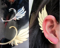 Wholesale Metal Wing Ear Cuff Earring New Gothic Punk Rock Women Jewelry Gold Bronze Silver Colors