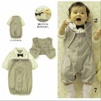 Boy baby sleep set - Factory Baby Clothing T Kids Clothes Pure Cotton gentleman long sleeve Rompers sleeping bag Sets