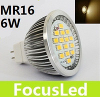 Wholesale MR16 GU5 V W Led Spotlight Bulb SMD LM Warm White K Led Downlight Lamp