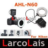 Wholesale Aputure AHL N60 LED Video Lights LED Photo flash light Ring Light Macro Flash for Nikon