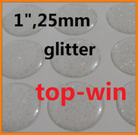 Wholesale 200 quot CLEAR EPOXY ADHESIVE CIRCLES BOTTLE CAP STICKERS with glitter