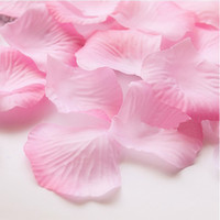 Wholesale Pink Silk Rose Shades Flower Petals Wedding Favors Bridal Party Home Decoration