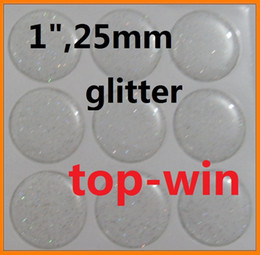 Wholesale drop selling GLITTER EPOXY STICKER MM CLEAR BOTTLE CAP ADHESIVE CIRCLES STICKERS