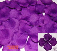 Wholesale Romantic Purple Silk Rose Petals Wedding Favors Bridal Party Home Vase Aisle decoration