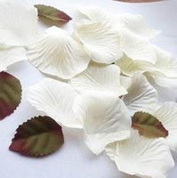 Wholesale Wedding Ivory Silk Rose Petals Favors Bridal Party Table Scatters Home Decoration