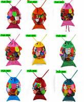 Backpacks baby closer - NWN Cotton Handmade Closing Fish Bag Feather Baby Bags Colorful Free Choose Size W H CM